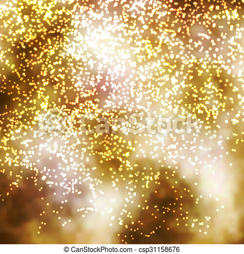 golden incandescent glittering particle background illustration