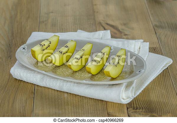 golden kiwi fruit - csp40966269