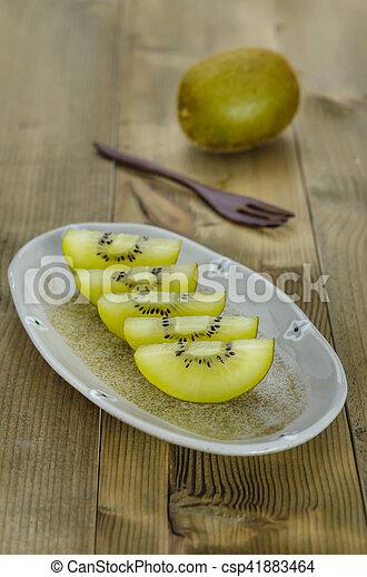 golden kiwi fruit - csp41883464