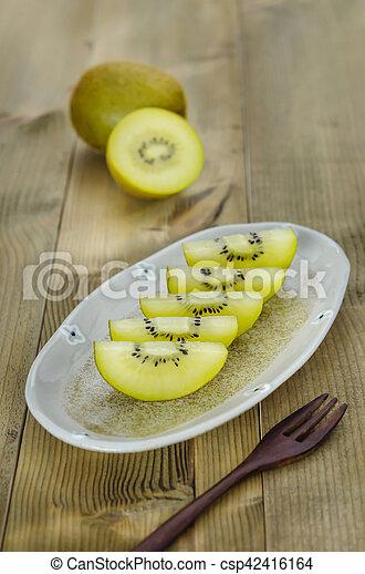 golden kiwi fruit - csp42416164
