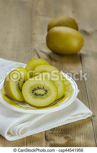 golden kiwi fruit - csp44541956