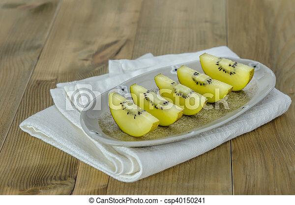 golden kiwi fruit - csp40150241