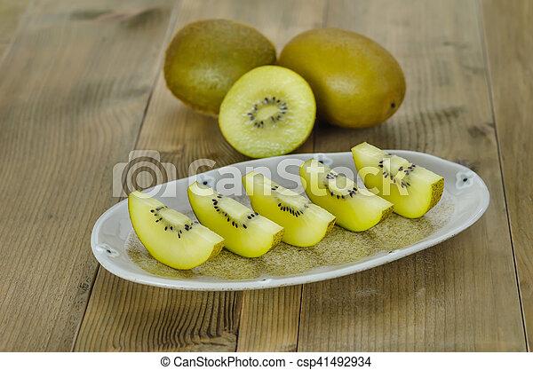 golden kiwi fruit - csp41492934
