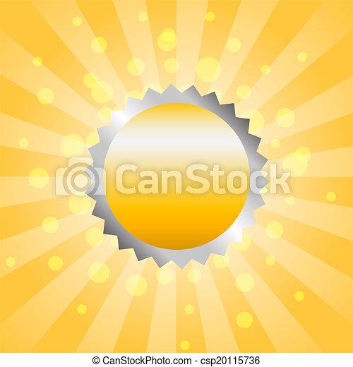Golden label on stripe background - csp20115736