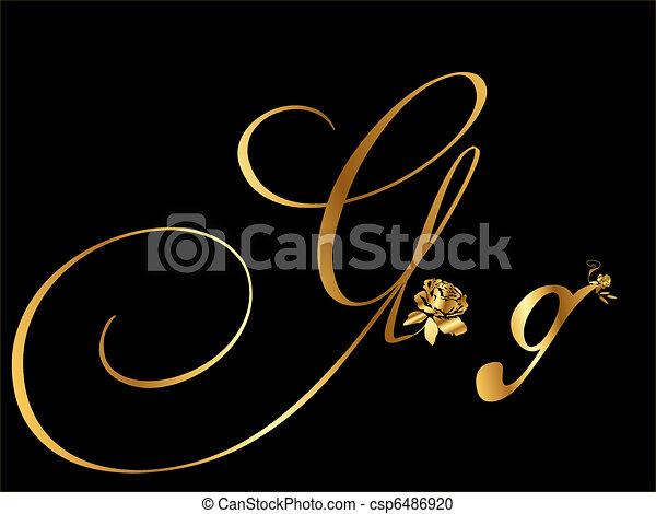 Golden Letter G Vector Clipart Csp6486920