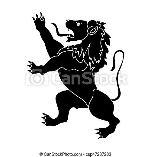 Golden Lion Symbol Of Belgium.the Dark Belgian Wolf. Belgium Single Icon In Black Style Bitmap,