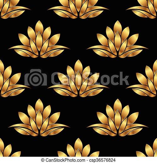 Golden lotus flower pattern background vector graphic design golden lotus flower pattern background vector graphic design mightylinksfo