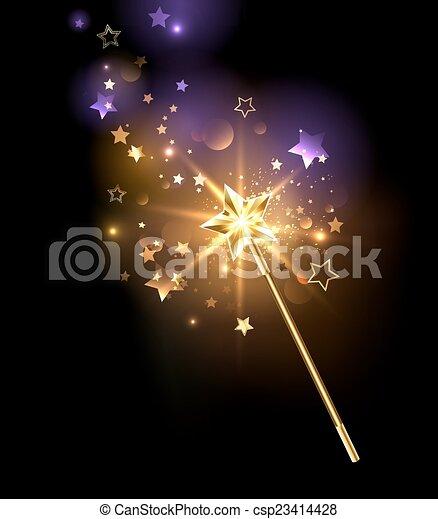 golden magic wand - csp23414428