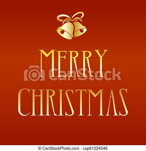 Golden Merry Christmas - csp61224546