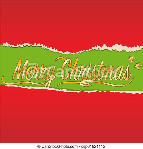 Golden Merry Christmas - csp61621112
