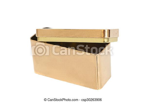 Golden Metal Box - csp30263906