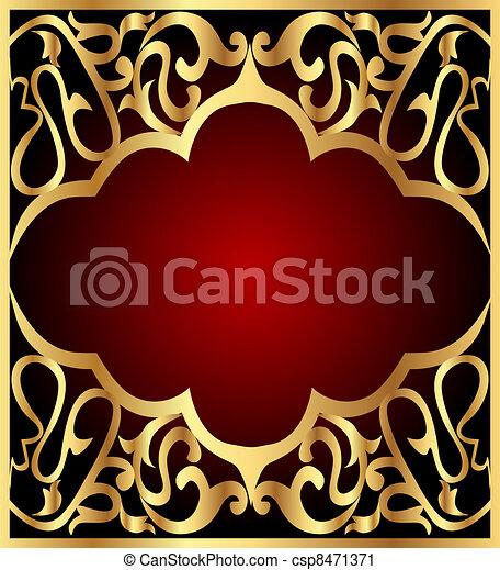 gold(en), modèle, cadre, fond - csp8471371