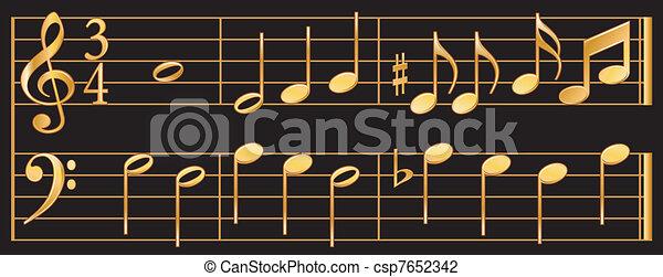 Golden Music - csp7652342
