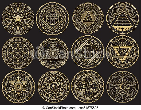 Golden Mystery Witchcraft Occult Alchemy Mystical Esoteric