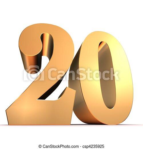 golden number - 20 - csp4235925