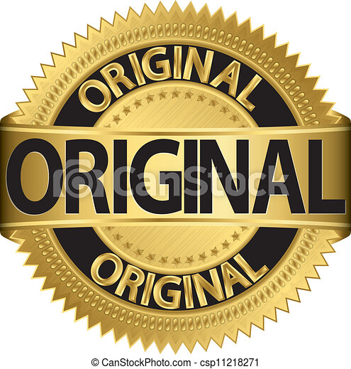 Golden original label, vector - csp11218271