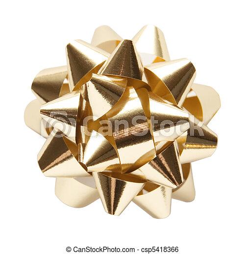 Golden Ornament Star - csp5418366