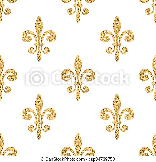 golden pattern golden fleur de lis seamless pattern gold glitter