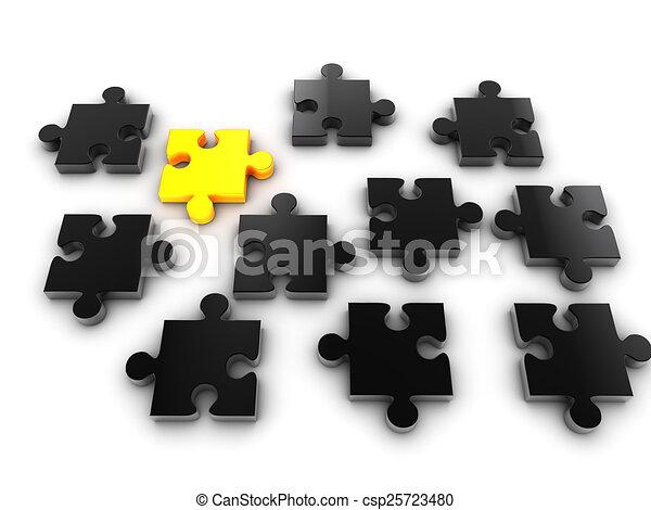 Golden Piece Of Puzzle