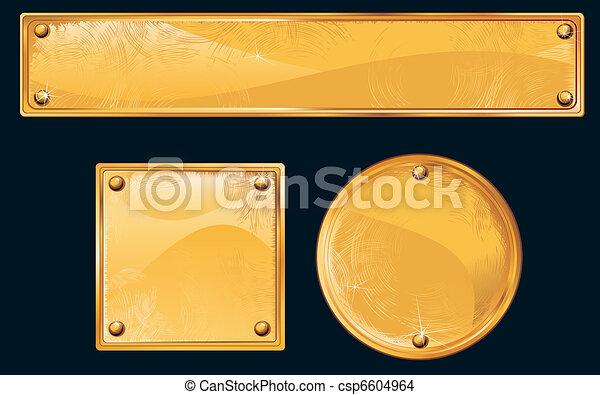 Golden Plates - csp6604964