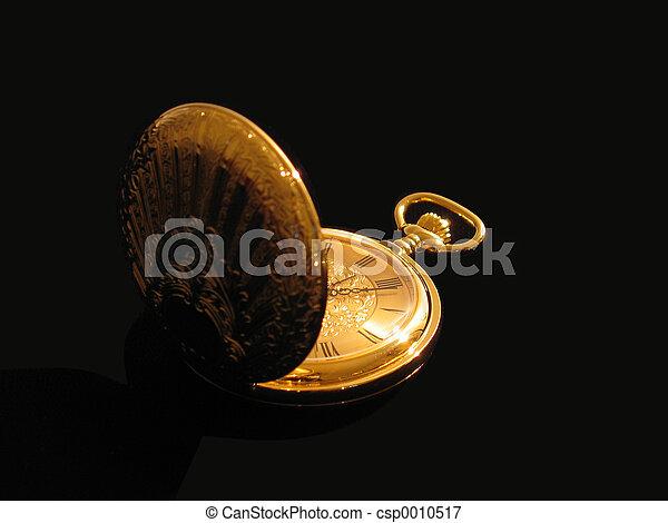 Golden Pocket Watch - csp0010517