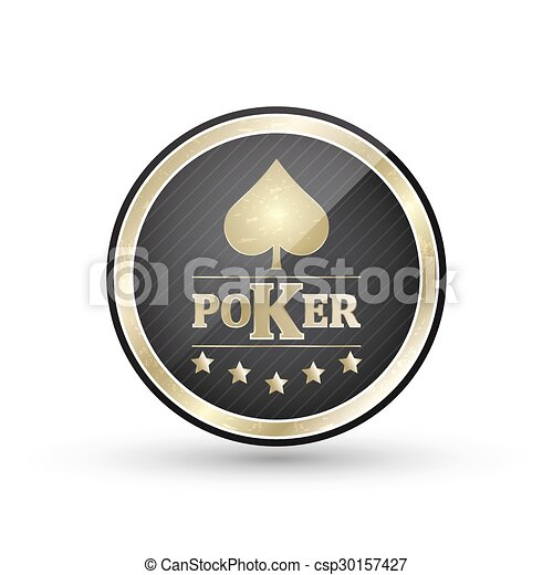 Golden Poker Icon With Card Symbol R Illustration Golden Poker Icon With Card Symbol For Your Creative Use Of The Different Canstock