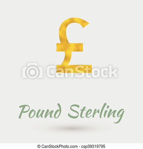 Golden Pound Sterling Symbol Symbol Of The Pound Sterling Currency