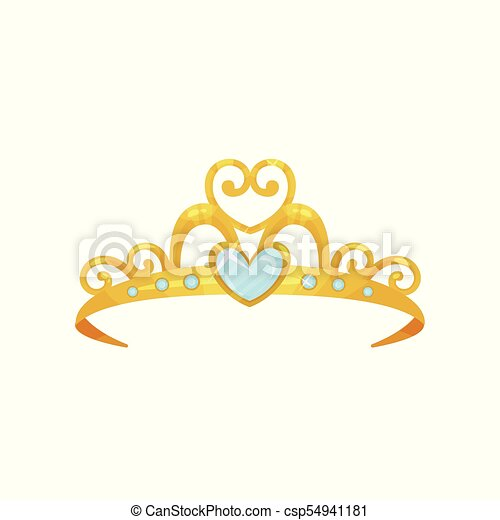 Golden Princess Tiara Beautiful Queen Crown Decorated With Six Blue Small Gemstones And One Big Heart Shaped Gem Precious Canstock Gograph allows you to download affordable illustrations and eps vector clip art. https www canstockphoto com golden princess tiara beautiful queen 54941181 html