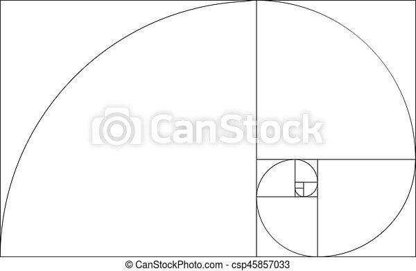 golden ratio template vector golden section frame golden ratio