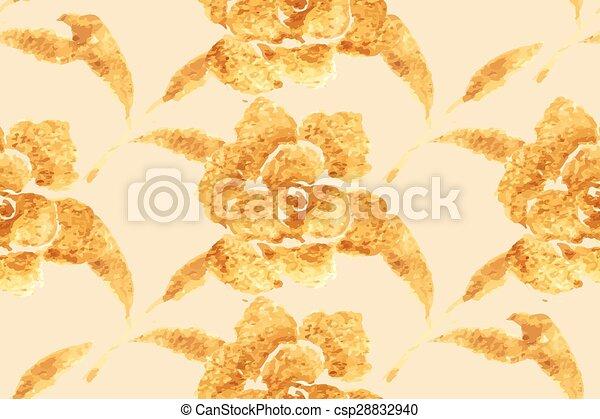 Golden Rose Hand Drawn Flower