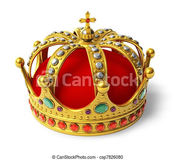 Golden royal crown - csp7826080