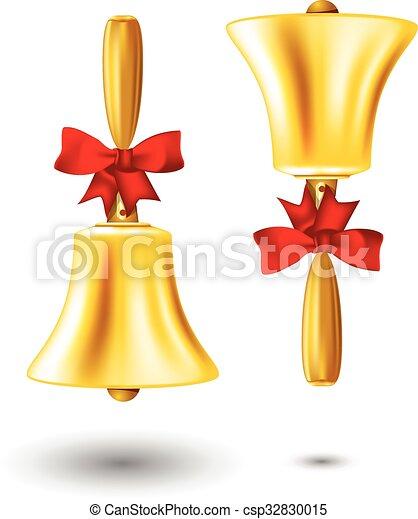 Golden school handbell - csp32830015