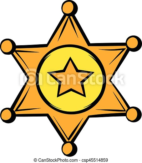 golden sheriff star badge icon icon cartoon golden sheriff star rh canstockphoto com sheriff badge clipart png western sheriff badge clipart
