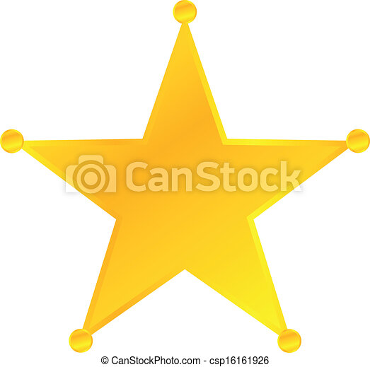 Golden Sheriff Star Badge - csp16161926