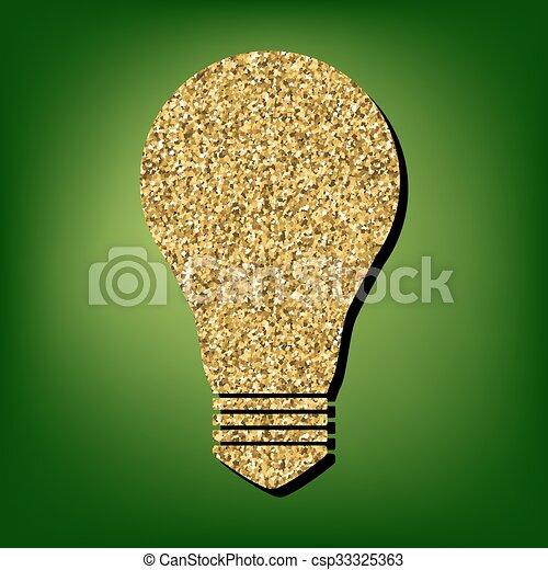 Golden shiny icon - csp33325363