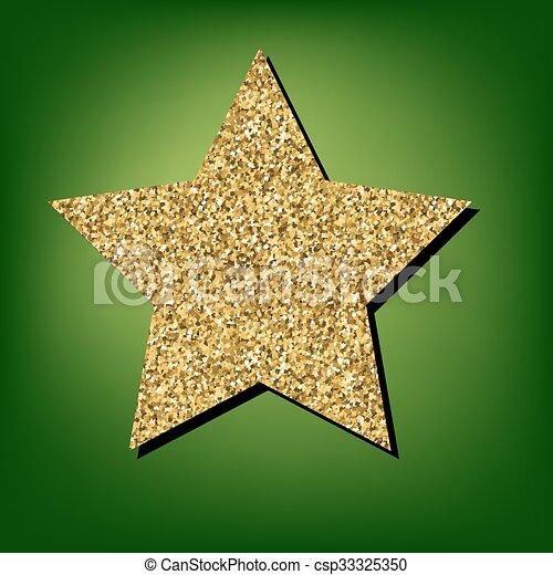 Golden shiny icon - csp33325350