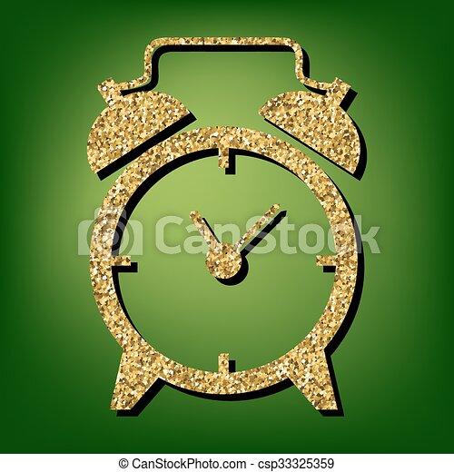 Golden shiny icon - csp33325359