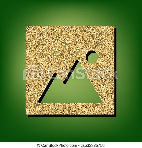 Golden shiny icon - csp33325750