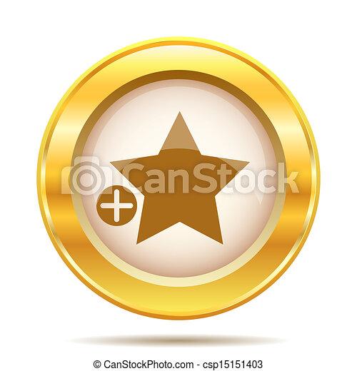 Golden shiny icon - csp15151403