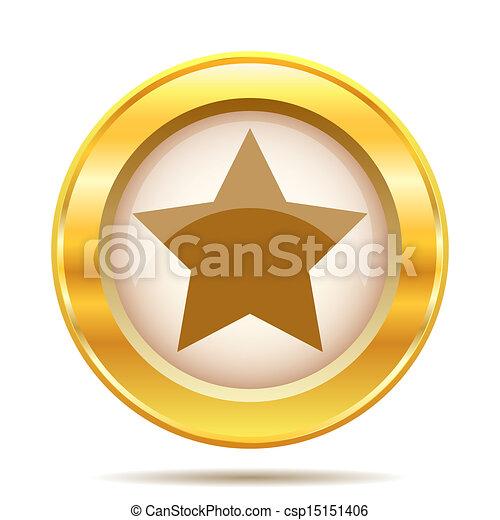 Golden shiny icon - csp15151406