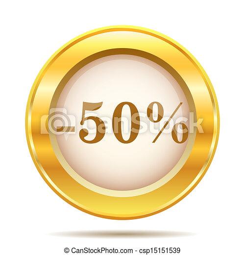 Golden shiny icon - csp15151539