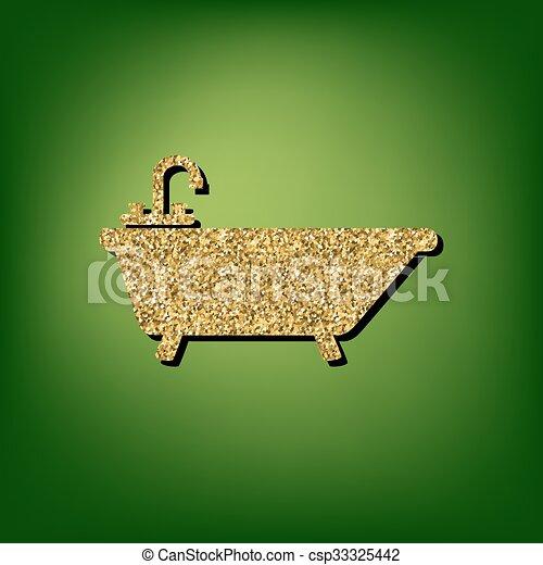 Golden shiny icon - csp33325442