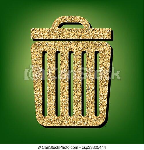 Golden shiny icon - csp33325444