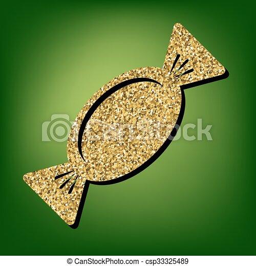 Golden shiny icon - csp33325489
