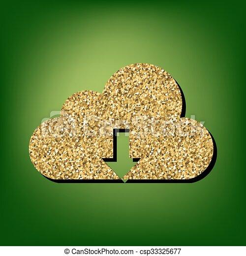 Golden shiny icon - csp33325677
