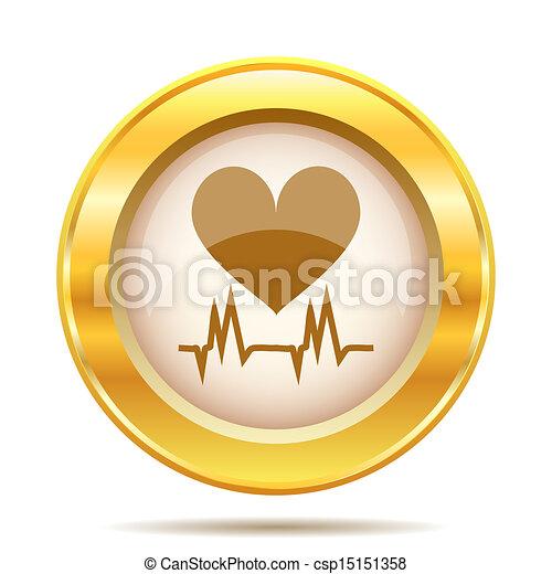 Golden shiny icon - csp15151358