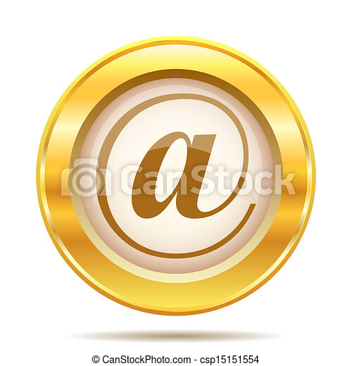 Golden shiny icon - csp15151554