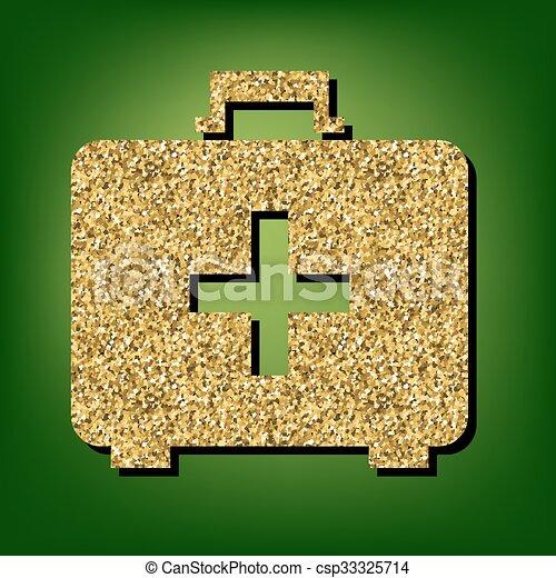 Golden shiny icon - csp33325714