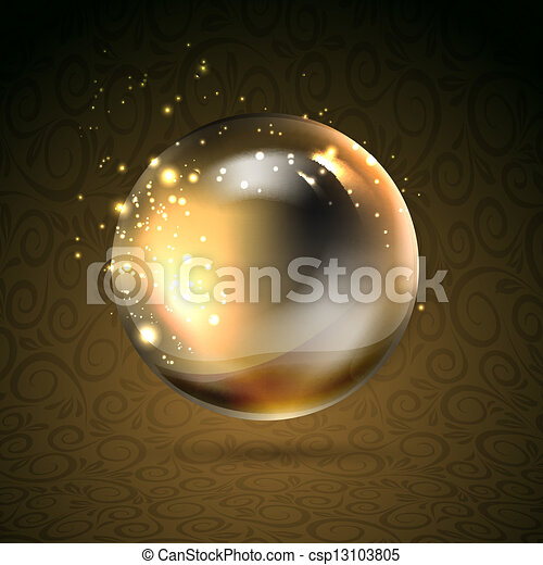 Golden shiny perl - csp13103805