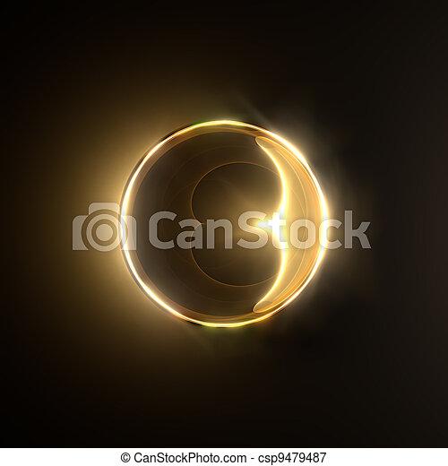 Golden shiny ring. - csp9479487